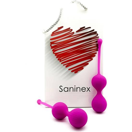 SANINEX DOUBLE CLEVER - INTELIGENTES ESFERAS VAGINALES MORADO - Juguetes Sexuales Bolas Chinas - Sex Shop ARTICULOS EROTICOS
