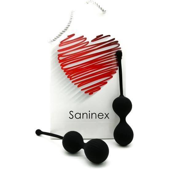 SANINEX DOUBLE CLEVER - INTELIGENTES ESFERAS VAGINALES NEGRO - Juguetes Sexuales Bolas Chinas - Sex Shop ARTICULOS EROTICOS