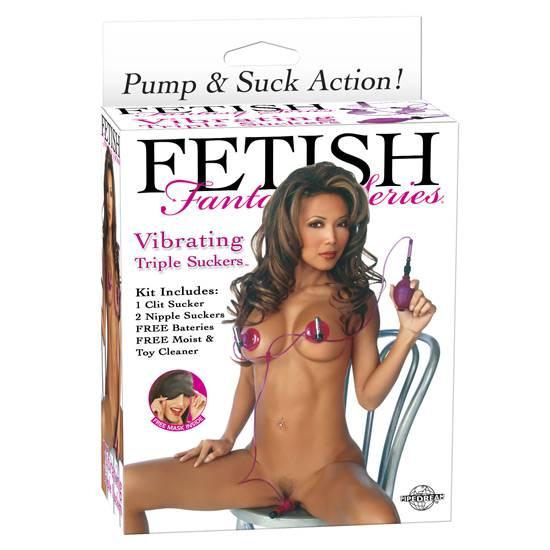 FETISH FANTASY TRIPLE SUCCIONADOR VIBRADOR - Succionador BDSM Bondage - Sex Shop ARTICULOS EROTICOS