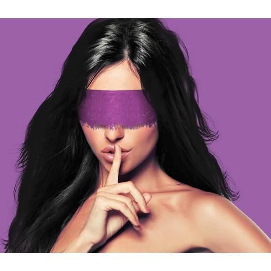 MASCARA MYSTERE DE ENCAJE MORADO | JUGUETES XXX BONDAGE | Sex Shop