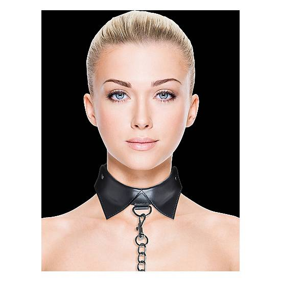OUCH COLLAR Y CORREA EXCLUSIVE NEGRO - BDSM Bondage Collares - Sex Shop ARTICULOS EROTICOS