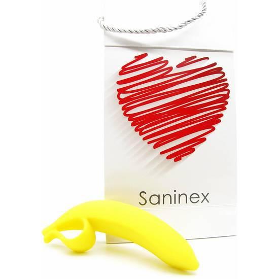 SANINEX DILDO BANANA ORGASMIC FANTASY COLOR AMARILLO | JUGUETES XXX DILDOS | Sex Shop