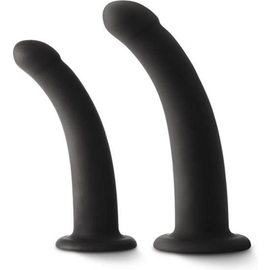 SHI/SHI SUGAR/SUGAR KIT DE DILDOS DE SILICONA - NEGRO - Dildos Juguetes Sexuales - Sex Shop ARTICULOS EROTICOS