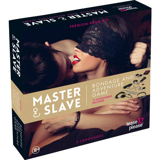 MASTER SLAVE KIT BDSM PARA PAREJAS BEIGE - BDSM Bondage Kit - Sex Shop ARTICULOS EROTICOS