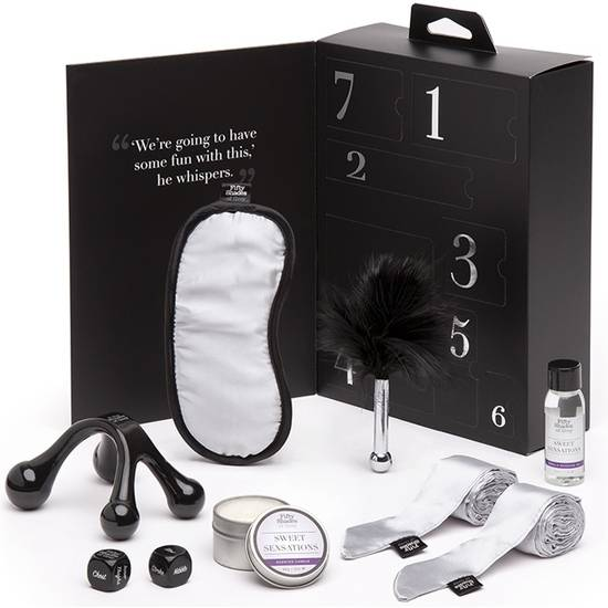PLEASURE OVERLOAD KIT DE LUJO SENSACIONES - NEGRO/BLANCO - BDSM Bondage Kit - Sex Shop ARTICULOS EROTICOS