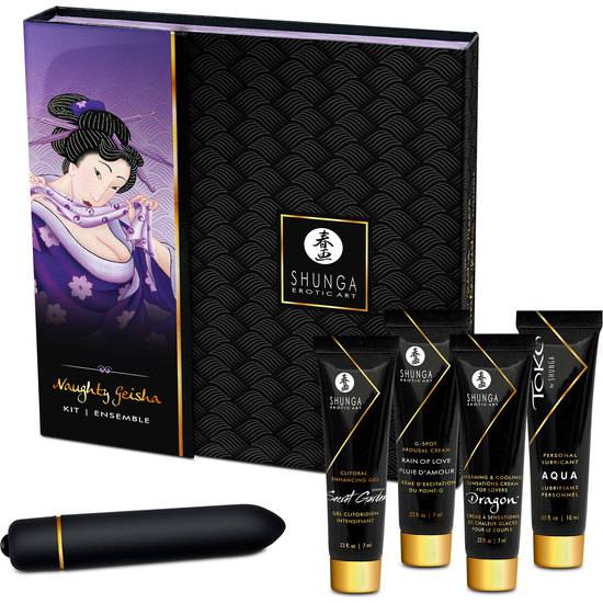 SHUNGA KIT NAUGHTY GEISHA CON JUGUETE - Afrodisiácos kit - Sex Shop ARTICULOS EROTICOS