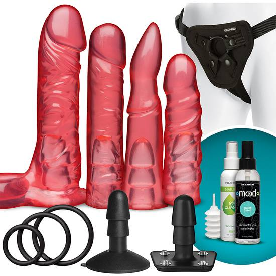 VAC-U-LOCK KIT CRYSTAL JELLIES ROSA - Juguetes Sexuales  Anales Kits - Sex Shop ARTICULOS EROTICOS