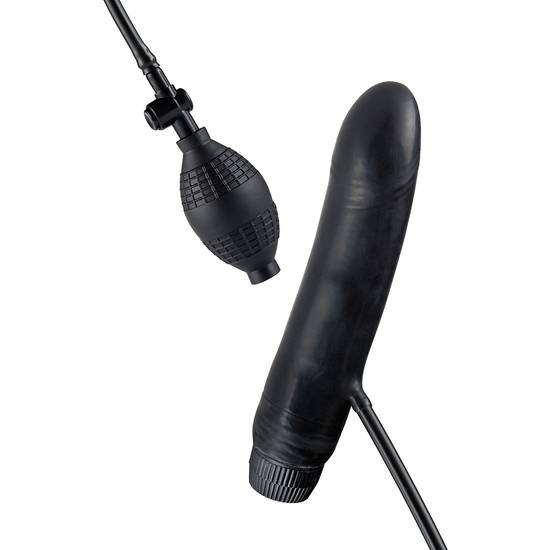 BOB THE BLOWER VIBRADOR HINCHABLE NEGRO - Vibrador Pene Vibrador - Sex Shop ARTICULOS EROTICOS