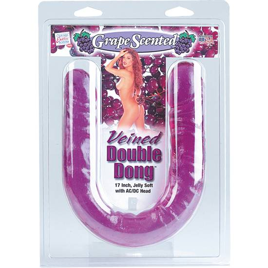 GRAPE SCENTED PENE DOBLE PENETRACIÓN - Vibrador Pene Doble Penetración - Sex Shop ARTICULOS EROTICOS