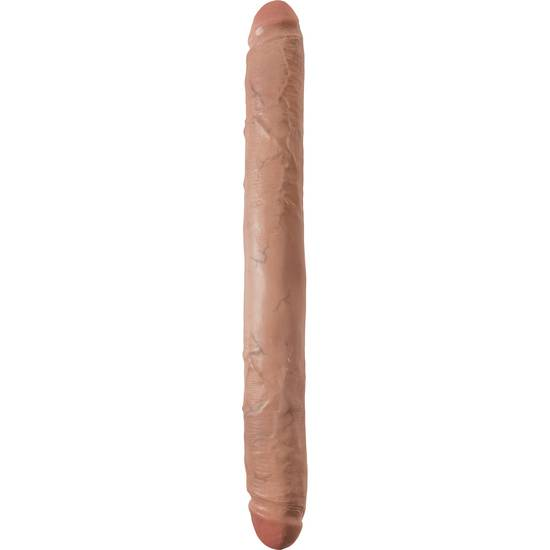 KING COCK PENE GRUESO DOBLE PENETRACIÓN 40CM MULATO - Vibrador Pene Doble Penetración - Sex Shop ARTICULOS EROTICOS