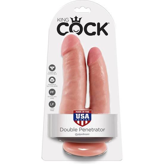 KING COCK PENE REALISTICO DOBLE - Vibrador Pene Doble Penetración - Sex Shop ARTICULOS EROTICOS