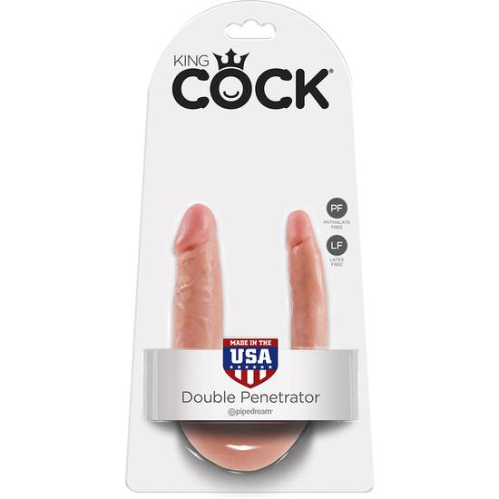 KING COCK PENE REALISTICO DOBLE SMALL - Vibrador Pene Doble Penetración - Sex Shop ARTICULOS EROTICOS