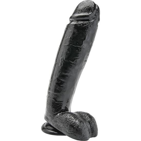 PENE 25,5CM CON TESTICULOS NEGRO - Consolador Penes Juguetes Sexuales - Sex Shop ARTICULOS EROTICOS