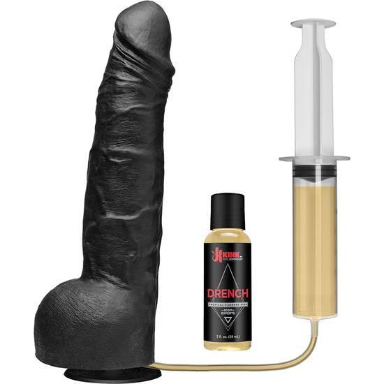 PENE EYACULADOR DE SILICONA NEGRO - Vibrador Pene Eyaculador - Sex Shop ARTICULOS EROTICOS