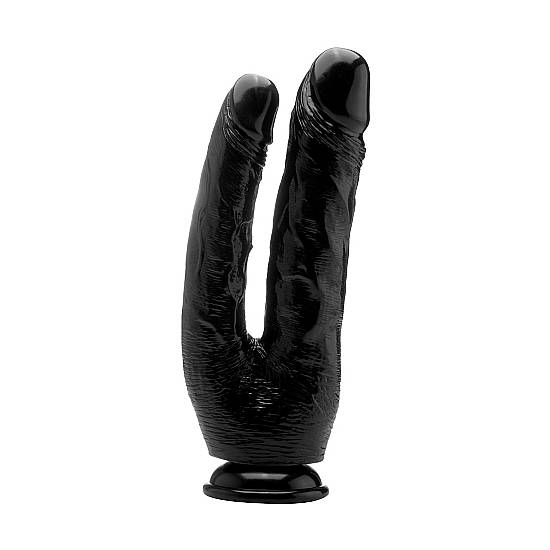 REAL ROCK PENE DOBLE 25,5 CM - NEGRO - Vibrador Pene Doble Penetración - Sex Shop ARTICULOS EROTICOS