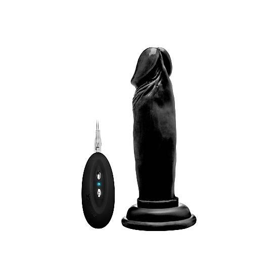 REAL ROCK PENE VIBRADOR 15 CM - NEGRO - Vibrador Pene Control remoto - Sex Shop ARTICULOS EROTICOS