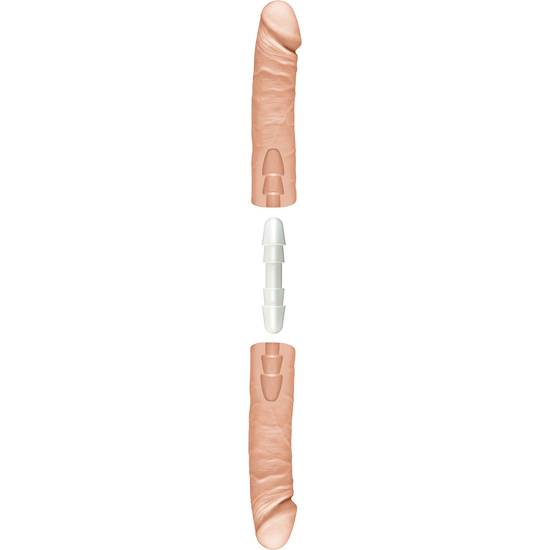 THE DOUBLE D PENE DOBLE 41 CM VAINILLA - Vibrador Pene Doble Penetración - Sex Shop ARTICULOS EROTICOS