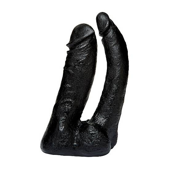 THE NATURALS DOBLE PENETRACIÓN NEGRO - Vibrador Pene Doble Penetración - Sex Shop ARTICULOS EROTICOS