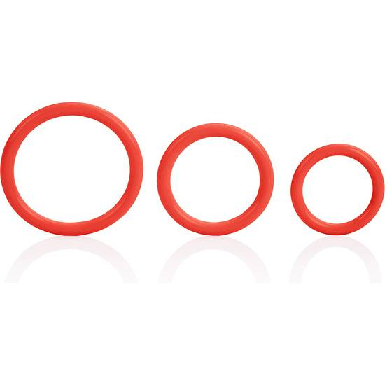 TRI-RINGS ROJO - Juguetes Sexuales Anillo Kit - Sex Shop ARTICULOS EROTICOS