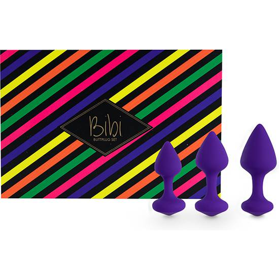 FEELZTOYS - BIBI KIT DE 3 PLUGS SILICONA - MORADO - Juguetes Sexuales  Anales Kits - Sex Shop ARTICULOS EROTICOS