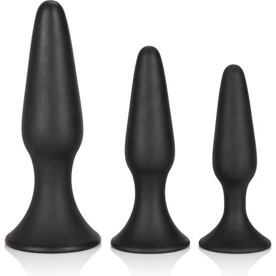 KIT DE ENTRENAMIENTO ANAL DE SILICONA NEGRO - Juguetes Sexuales  Anales Kits - Sex Shop ARTICULOS EROTICOS
