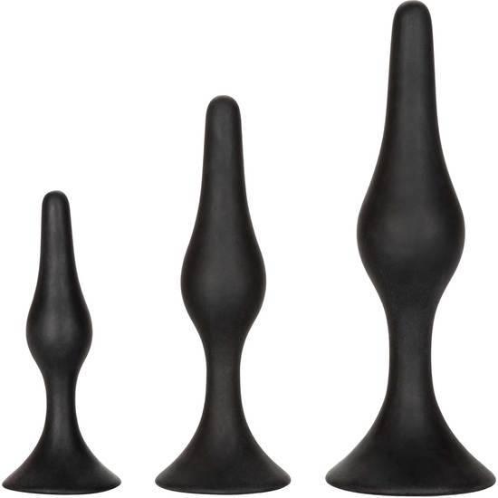 KIT DE INICIACIÓN ANAL SILICONA- NEGRO - Juguetes Sexuales  Anales Kits - Sex Shop ARTICULOS EROTICOS