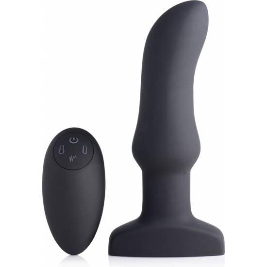 PLUG CURVADO INFLABLE DE SILICONA CON VIBRACIÓN DE 10X - Juguetes Sexuales Anal Vibrador - Sex Shop ARTICULOS EROTICOS