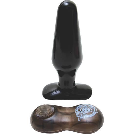 PLUG VIBRADOR MEDIANO CON MANDO - NEGRO - Juguetes Sexuales Anal Vibrador - Sex Shop ARTICULOS EROTICOS