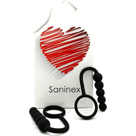 SANINEX DUPLO - PLUG ANAL CON ANILLO - NEGRO - Juguetes Sexuales  Anales Kits - Sex Shop ARTICULOS EROTICOS