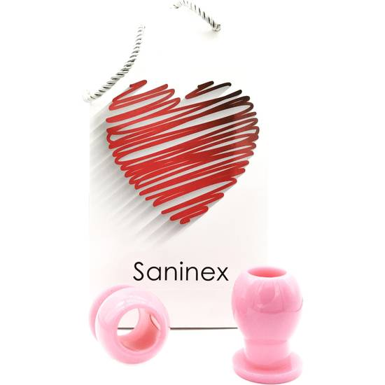 SANINEX LIAISON - PLUG ORGÁSMICO TUNEL ROSA - Juguetes Sexuales Kit - Sex Shop ARTICULOS EROTICOS