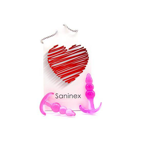 SANINEX PLUG INITIATION 3D PLEASURE - ECONOMIC LINE - ROSA | JUGUETES XXX PLUGS | Sex Shop