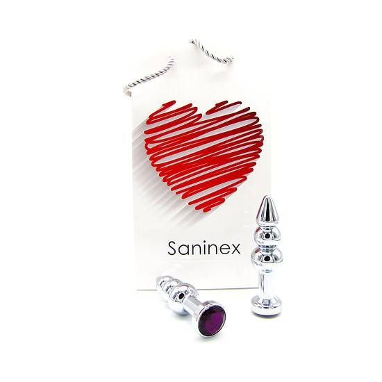 SANINEX PLUG METAL 3D COMMITED DIAMOND | JUGUETES XXX PLUGS | Sex Shop