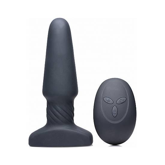 SLIM R SMOOTH PLUG VIBRADOR CON CONTROL REMOTO - NEGRO - Juguetes Sexuales Anal Vibrador - Sex Shop ARTICULOS EROTICOS
