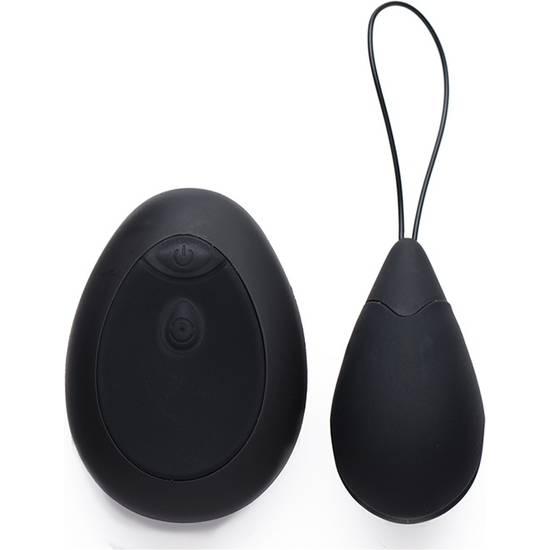 HUEVO VIBRADOR DE SILICONA 10X - NEGRO - Juguetes Sexuales Huevos Vibradores - Sex Shop ARTICULOS EROTICOS