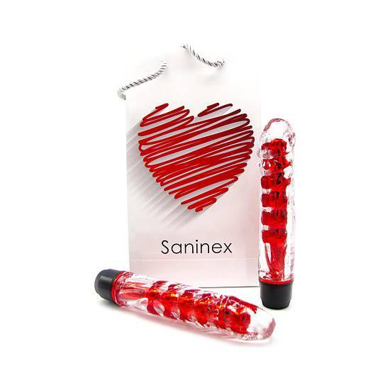 SANINEX VIBRADOR FANTASTIC REALITY - METÁLICO/ROJO | JUGUETES XXX VIBRADORES | Sex Shop