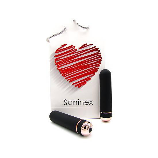 SANINEX VIBRATOR ORGASMIC ELEGANCE NEGRO/ORO | JUGUETES XXX VIBRADORES | Sex Shop
