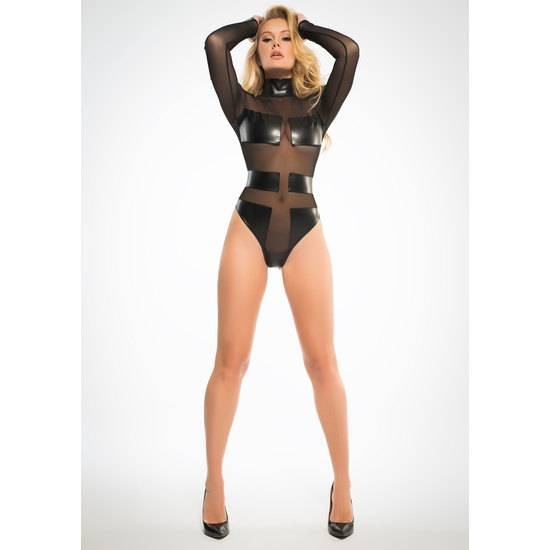 ALIXX SPECTACULAR & SLEEK BODY CON TRANSPARENCIAS - Lenceria Sexy Femenina Bodys - Sex Shop ARTICULOS EROTICOS