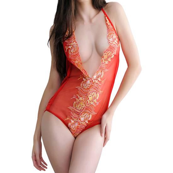 BODY BINDWEED ROJO - Lenceria Sexy Femenina Bodys - Sex Shop ARTICULOS EROTICOS