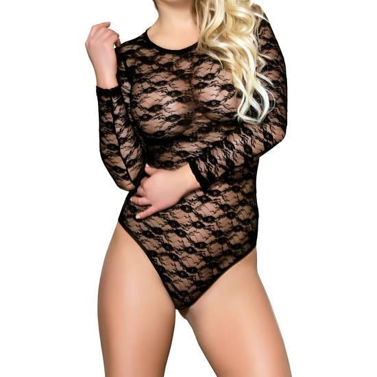 BODY BLACK KISSES NEGRO - Lenceria Sexy Femenina Bodys - Sex Shop ARTICULOS EROTICOS