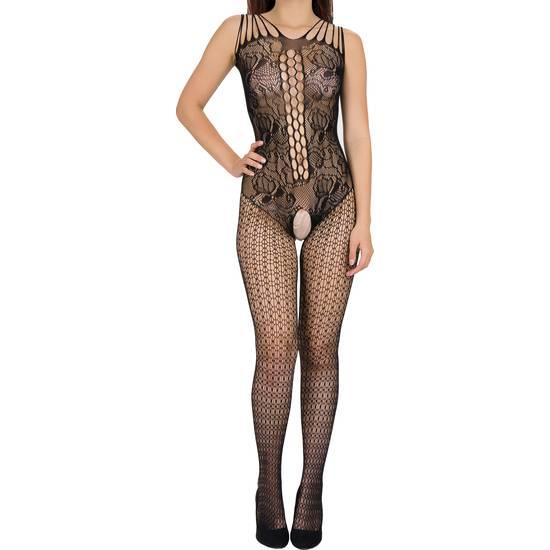 BODY CROCK SKIN NEGRO - Lenceria Sexy Femenina Bodys - Sex Shop ARTICULOS EROTICOS