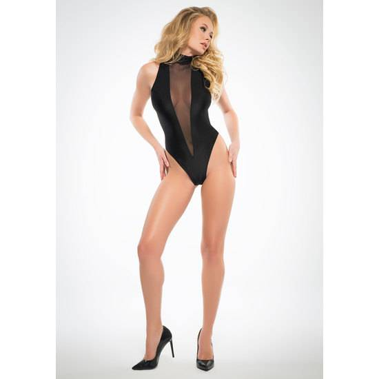 BODY ESCOTE V CON TRANSPARENCIAS - Lenceria Sexy Femenina Bodys - Sex Shop ARTICULOS EROTICOS