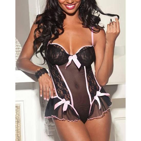 BODY KAZAN NEGRO - Lenceria Sexy Femenina Bodys - Sex Shop ARTICULOS EROTICOS
