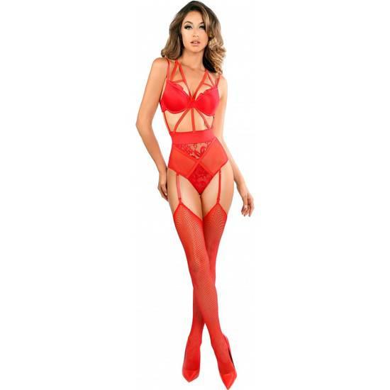 BODY LACE TEDDY DE TIRAS Y ENCAJE - ROJO - Lenceria Sexy Femenina Bodys - Sex Shop ARTICULOS EROTICOS