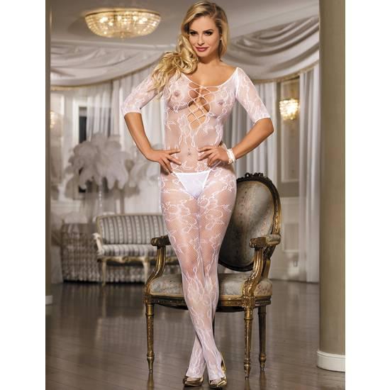 BODY WHITE ROSE BLANCO - Talla S/M | LENCERIA BODYS | Sex Shop