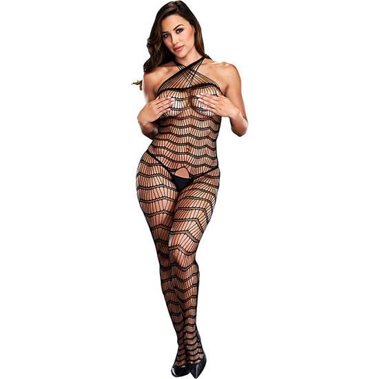 CRISS CROSS CROTCHLESS BODYSTOCKING - Lenceria Sexy Femenina Bodys - Sex Shop ARTICULOS EROTICOS
