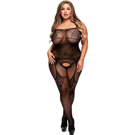 CROTCHLES JACQUARD BODYSTOCKING - Lenceria Sexy Femenina Bodys - Sex Shop ARTICULOS EROTICOS