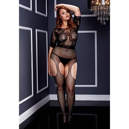 CROTCHLESS SUSPENDER BODY PLUS - Talla L/XL | LENCERIA BODYS | Sex Shop