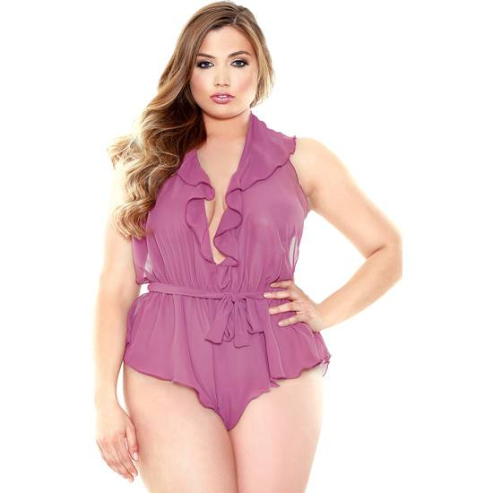 CURVE ANNE BODY CON LIGUEROS NEGRO - Lenceria Sexy Femenina Bodys - Sex Shop ARTICULOS EROTICOS