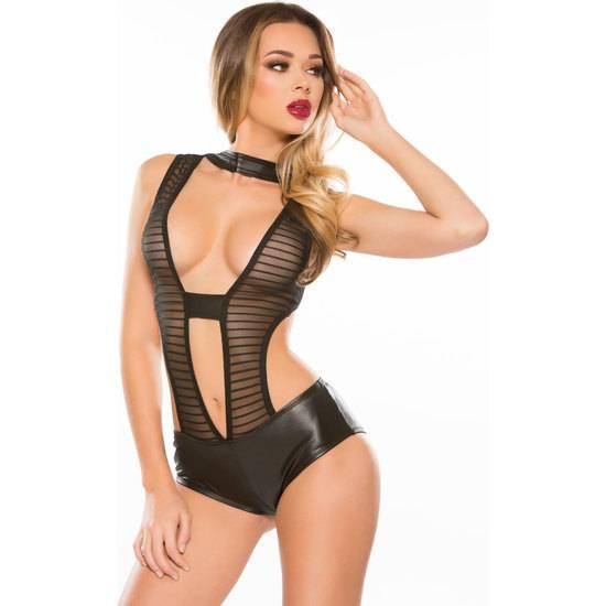 JULIET BODY EFECTO MOJADO - Lenceria Sexy Femenina Bodys - Sex Shop ARTICULOS EROTICOS