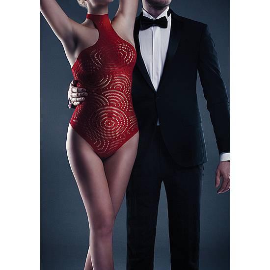 LE DESIR BODY GISELLE HALTER ROJO - Lenceria Sexy Femenina Bodys - Sex Shop ARTICULOS EROTICOS